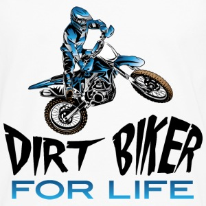 Dirt Biker For Life Blue Baby & Toddler Shirts - Men's Premium Long Sleeve T-Shirt