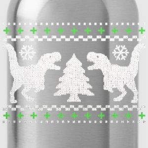 Funny Ugly Christmas T-Rex Sweater - Water Bottle