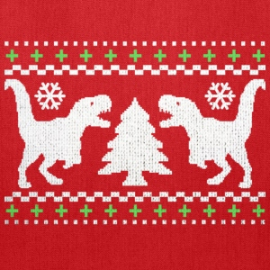 Funny Ugly Christmas T-Rex Sweater - Tote Bag