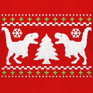 Funny Ugly Christmas T-Rex Sweater - Women's Premium Long Sleeve T-Shirt
