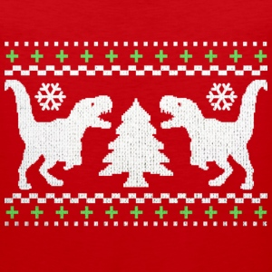 Funny Ugly Christmas T-Rex Sweater - Men's Premium Tank