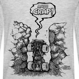 Ahh crap jeep in hole T-Shirts - Men's Premium Long Sleeve T-Shirt