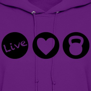 live love lift circles for weight lifting - Women's Hoodie