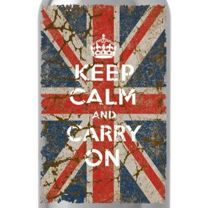 UK Flag and Keep Calm, Hybrid - Water Bottle