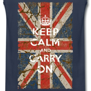 UK Flag and Keep Calm, Hybrid - Men's Premium Tank