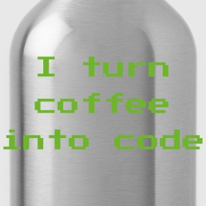 I Turn Coffee Into Code - Water Bottle