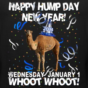Happy Hump Day New Year 2014 Party Camel T-shirt - Men's Premium Tank