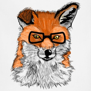 fox hipster T-Shirts - Adjustable Apron