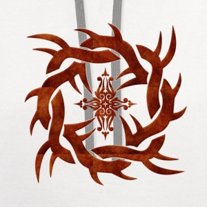 knot_cross_tribal T-Shirts - Contrast Hoodie