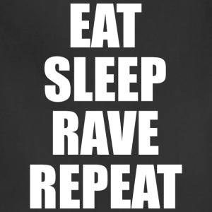 Eat Sleep Rave Repeat EDM Design T-Shirts - Adjustable Apron