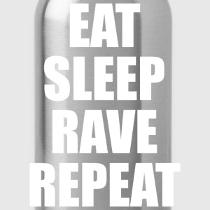 Eat Sleep Rave Repeat EDM Design T-Shirts - Water Bottle