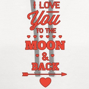 I Love You To The Moon And Back - Contrast Hoodie