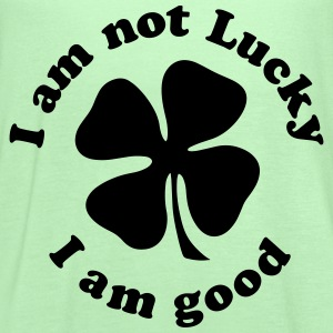 I AM NOT LUCKY I AM GOOD T-Shirts - Women's Flowy Tank Top by Bella