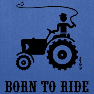 Born To Ride (Tractor) T-Shirt - Tote Bag