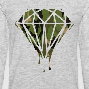 Woodland Camo Pattern Bleeding Diamond T-Shirts - Men's Premium Long Sleeve T-Shirt