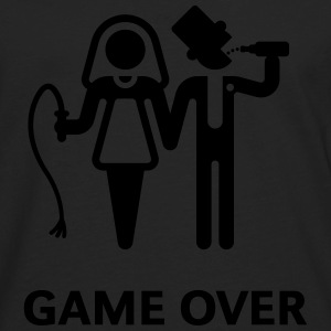 Game Over (Whip and Beer) T-Shirt - Men's Premium Long Sleeve T-Shirt