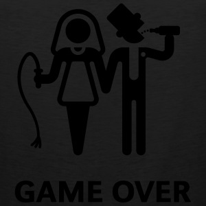 Game Over (Whip and Beer) T-Shirt - Men's Premium Tank