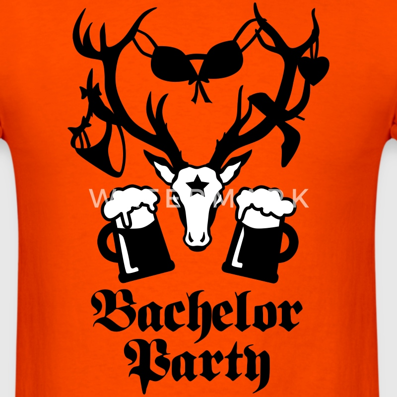 Sexy Deer Stag Night Bachelor Groom BEER Team Tee - Men's T-Shirt