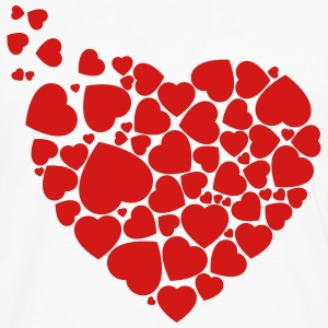 Hearts for Valentine´s - Men's Premium Long Sleeve T-Shirt