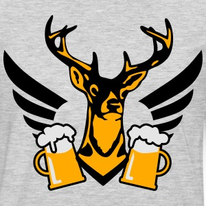 23 deer bachelor party fun funny love stag nigh  - Men's Premium Long Sleeve T-Shirt