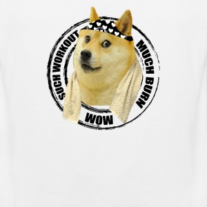 Funny Gym Shirt - Such Workout Much Burn - Doge Workout T Shirt - Men's Premium Tank