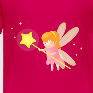 cute magical fairy with star wand, fantasy Kids' Shirts - Toddler Premium T-Shirt