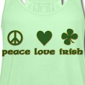 Peace Love Irish T-Shirt - Women's Flowy Tank Top by Bella