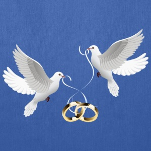 wedding doves rings - Tote Bag