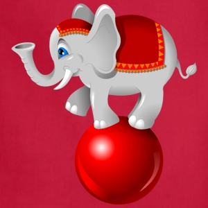 elephant on the ball - Adjustable Apron