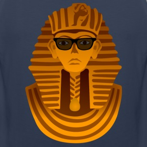 Pharaoh with sunglasses Shirt - Men's Premium Tank