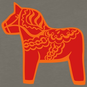 dala horse T-Shirts - Men's Premium Long Sleeve T-Shirt