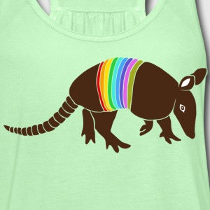 armadillo texas turkey hillbilly rainbow T-Shirts - Women's Flowy Tank Top by Bella