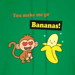 make me go bananas, cute humor love T-Shirts - Men's Hoodie