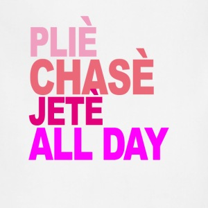 plie_chasse_jete_all_day_ballet_tshirt_v - Adjustable Apron