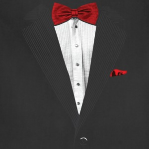 bow tie sear sucker tuxedo T-Shirts - Adjustable Apron