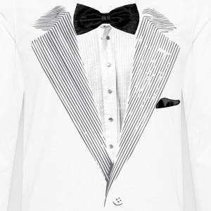 Realistic Tuxedo bow tie and sear sucker T-Shirts - Men's Premium Long Sleeve T-Shirt