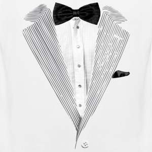 Realistic Tuxedo bow tie and sear sucker T-Shirts - Men's Premium Tank