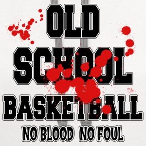 Basketball Old School No Blood No Foul T-Shirt - Contrast Hoodie