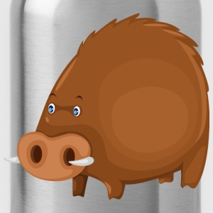 funny wild boar - Water Bottle