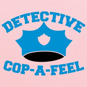 Funny DETECTIVE police man hat COP-A-FEEL Kids' Shirts - Kids' Hoodie