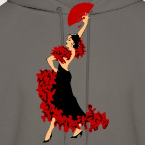 dancing woman with a fan - Men's Hoodie