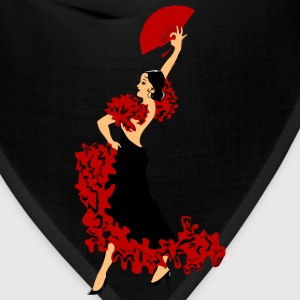 dancing woman with a fan - Bandana