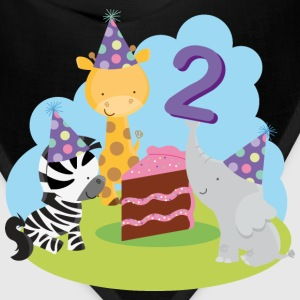 2nd Birthday T-shirt (Animal Party) - Bandana