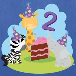 2nd Birthday T-shirt (Animal Party) - Tote Bag