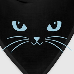 Cat Face With Big Eyes T-Shirts - Bandana