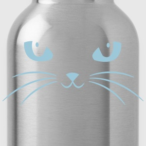 Cat Face With Big Eyes T-Shirts - Water Bottle