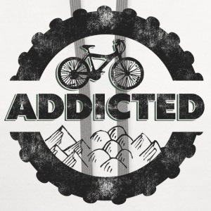 Bicycle Mountain Biking Addicted T-Shirt - Contrast Hoodie