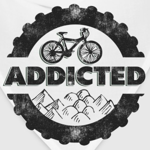 Bicycle Mountain Biking Addicted T-Shirt - Bandana