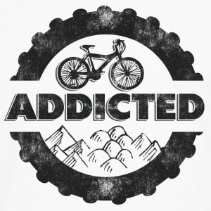 Bicycle Mountain Biking Addicted T-Shirt - Men's Premium Long Sleeve T-Shirt