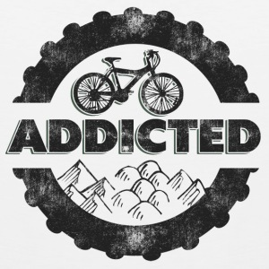 Bicycle Mountain Biking Addicted T-Shirt - Men's Premium Tank